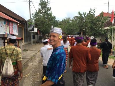 Bali Barong Procession Attire Oct 2016