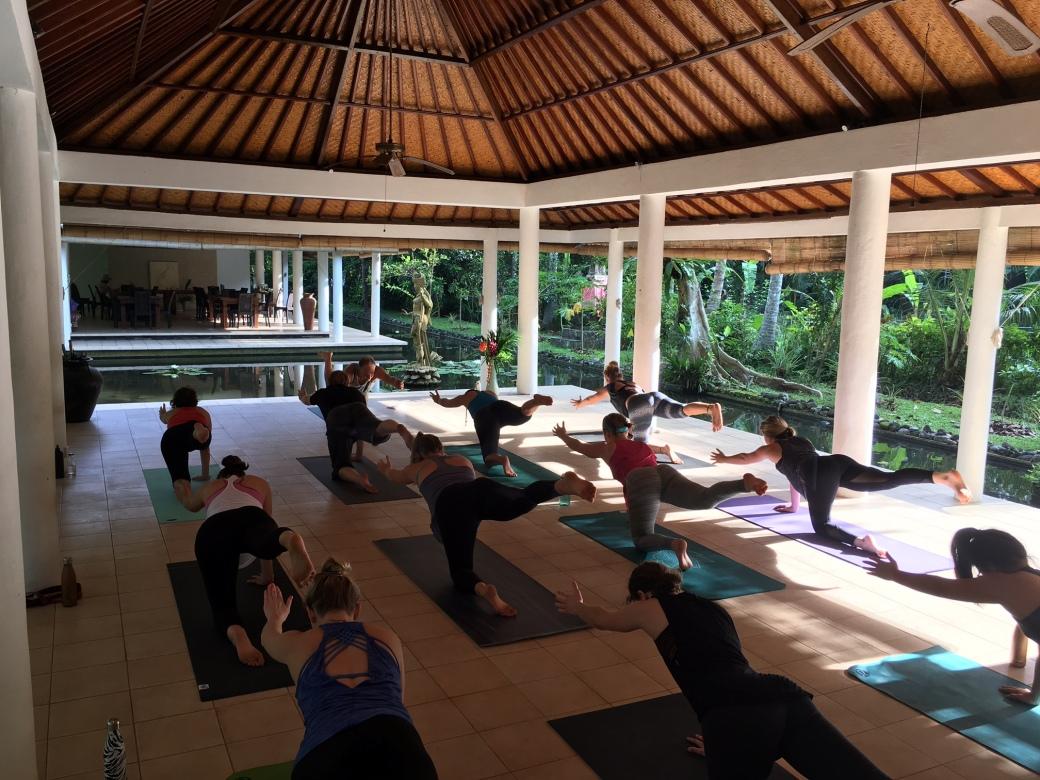 Teaching yoga Bali Nov 2016